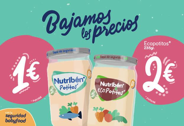 Bajamos los precios en los productos de Nutriben