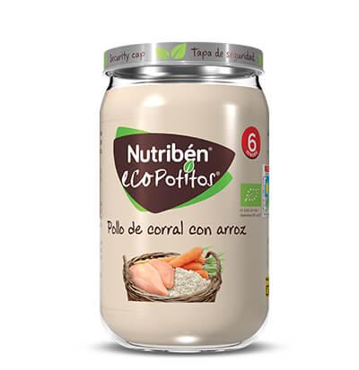 Nutribén Ecopotito pollo de corral con arroz