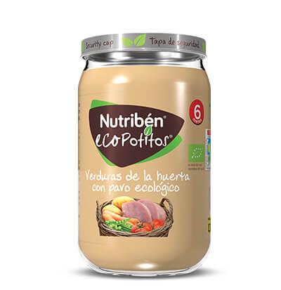 Nutribén Ecopotito verduras de la huerta con pavo ecológico