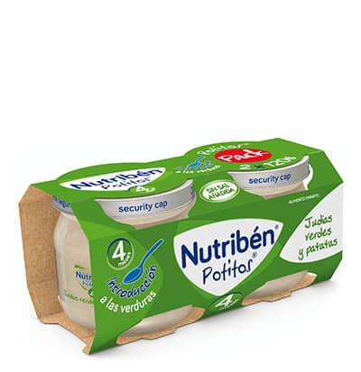 Bipack potito introducción a las verduras judias verdes y patatas, Nutribén