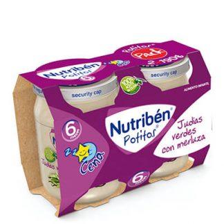 Nutribén Potito Judías Verdes con merluza