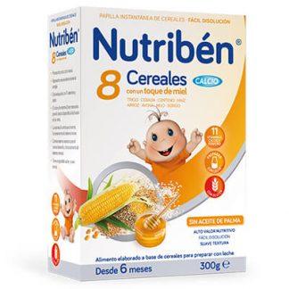 Nutribén 8 cereales con un toque de miel calcio 300
