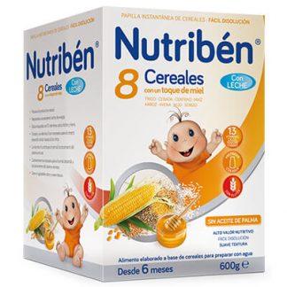 Cereales Nutribén con leche adaptada y un toque de miel