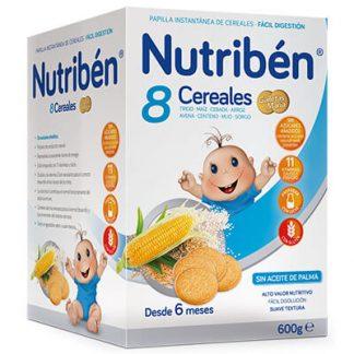 papilla Nutribén 8 cereales galletas María