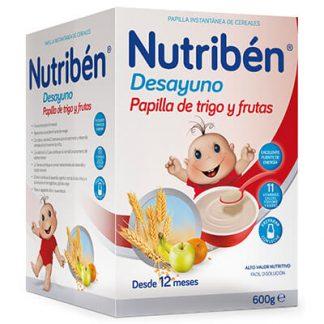 papilla Nutribén desayuno papilla de trigo y frutas