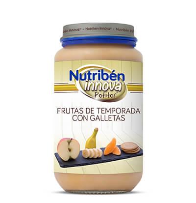 Potito Nutribén Innova Frutas de temporada con galletas