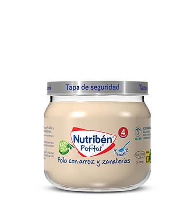 Potito Nutribén con pollo, arroz y zanahoria