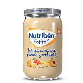 potito nutriben con manzana, naranja, platano y melocoton