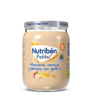 Nutribén merienda Manzana, Naranja y Plátano con Galleta